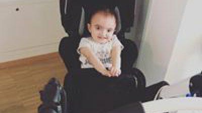 La nouvelle poussette-chaise de Kelyan !